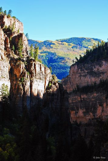view over the canyon at Hanging Lake, CO, USA