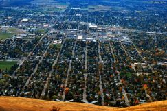view of Missoula from Mt. Sentinel