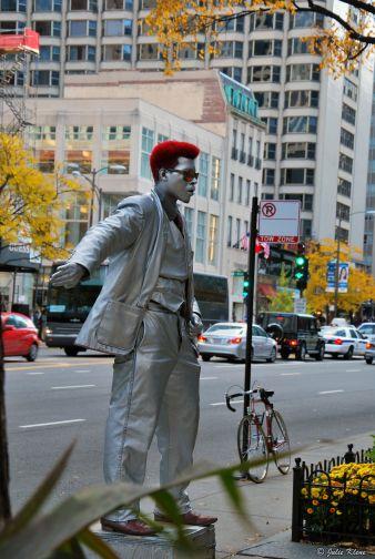 street artist, Chicago, IL, USA