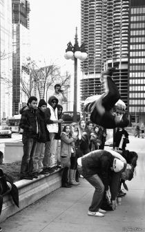 jumping, Chicago, IL, USA