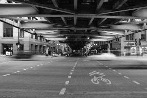 under the bridge, Chicago, IL, USA