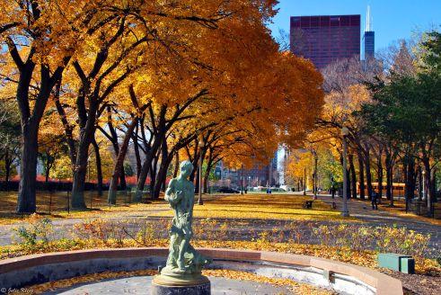 fallen fountain, Chicago, IL, USA
