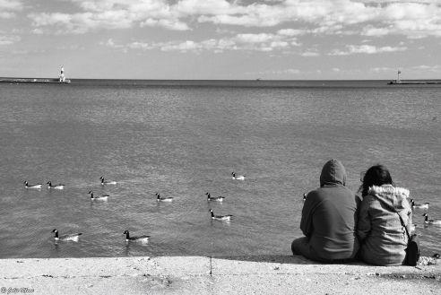 by Lake Michigan, Chicago, IL, USA