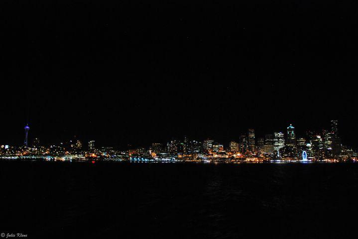 Seattle by night, WA, USA