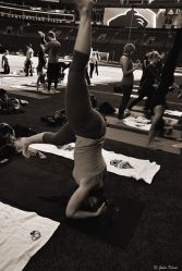 yoga class, Seattle, WA, USA