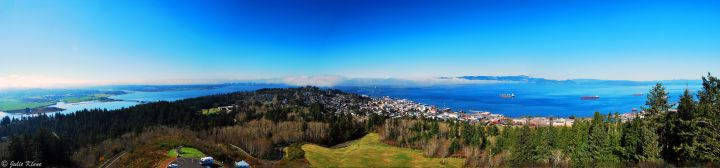 viewpoint from top of Astoria Tower, WA, USA