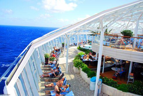 Solarium, Allure of the Seas, Caribbean cruise