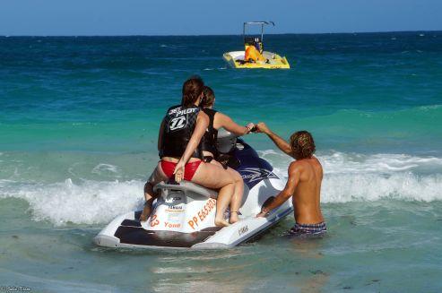 jet ski @ Waikiki Beach, St Martin, Caribbean cruise