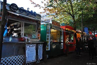 food stalls, downtown Portland, OR, USA