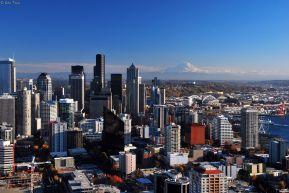 up Space Needle, Seattle, WA, USA
