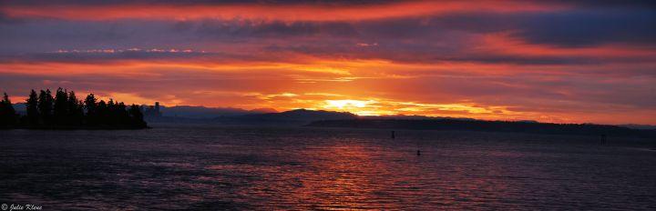 Seattle sunrise, WA, USA