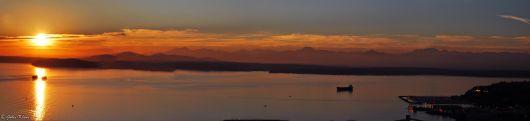 Seattle sunset, WA, USA