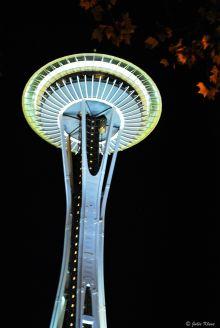 Space Needle at night, Seattle, WA, USA