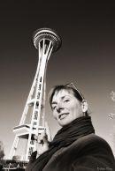 at Space Needle, Seattle, WA, USA