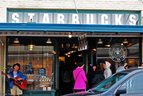 1st Starbucks, Pike Place Market, Seattle, WA, USA