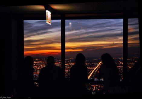 sunset, Chicago, IL, USA