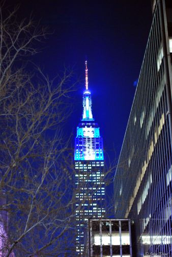 Empire State Building by night, NYC, USA