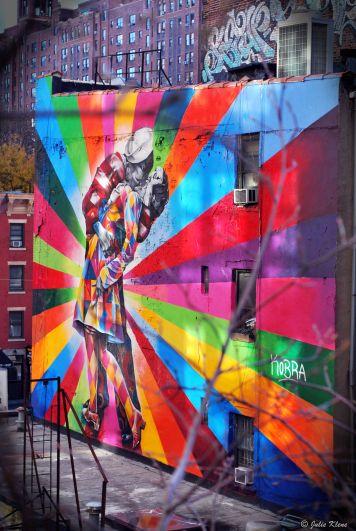 street art from High Line, NYC, USA