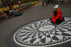 Strawberry Fields in Central Park, NYC, USA