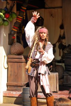 Jack Sparrow at Disney World, Orlando, FL, USA