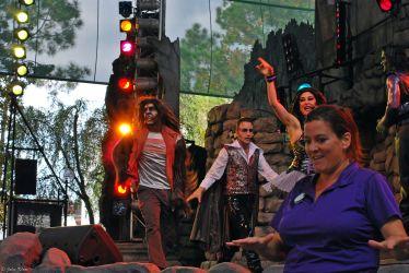 sign language interpreted show at Universal Studios, Orlando, FL, USA