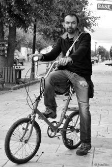 biking in town, Puerto Natales, Chile