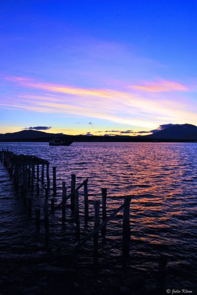 sunset in Puerto Natales, Chile