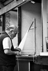 poncho making at arts&crafts market, Ushuaia, Argentina