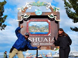 End of the World signpost, Ushuaia, Argentina