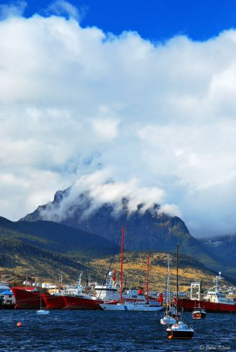clouds in the Bay of Ushuaia, Argentina