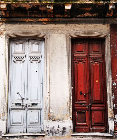 old quarters of Montevideo, Uruguay