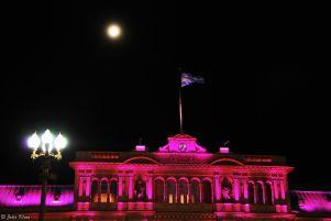 Moonlight over Casa Roja, Buenos Aires, Argentina