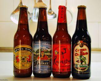 locally-brewed beers, El Bolson, Argentina