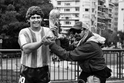 Maradona in Recoleta, Buenos Aires, Argentina