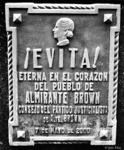 Evita's tomb in Recoleta cemetary, Buenos Aires, Argentina