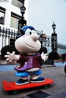 Matias on the Paseo de las Historietas, Buenos Aires, Argentina