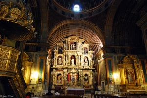 inside of the Church of the Company of Jesus, Cordoba, Argentina