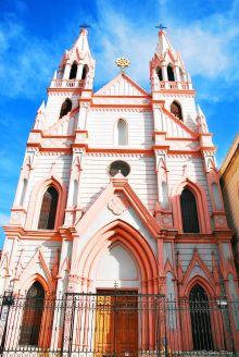 the pink Church, Cordoba, Argentina