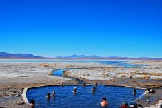Hot Springs, Uyuni Salt Flats, Bolivia