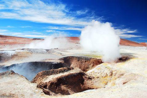 geysers, Uyuni Salt Flats, Bolivia