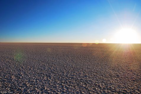 sunrise on Uyuni Salt Flats, Bolivia