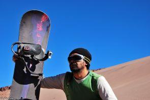 sandboarding in Death Valley, San Pedro de Atacama, Chile