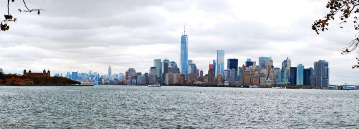 from Liberty island, NYC, USA