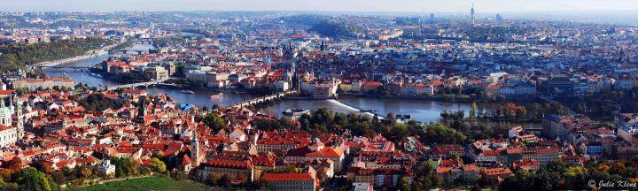 Prague from Petrin Tower, Czech Republic