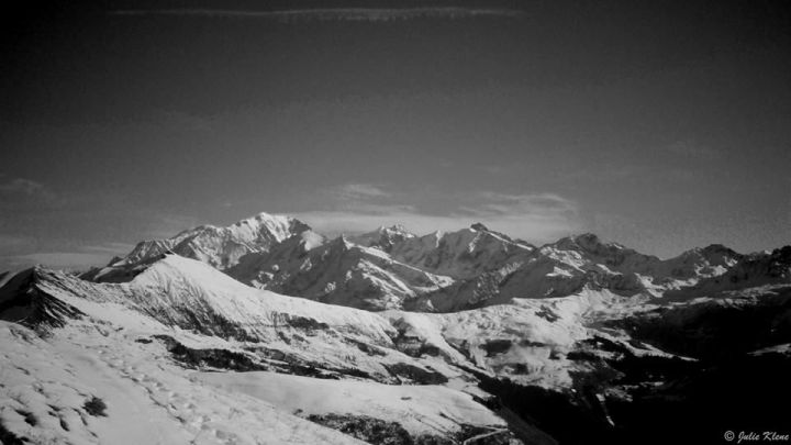 Mont Blanc from Les Saisies, France