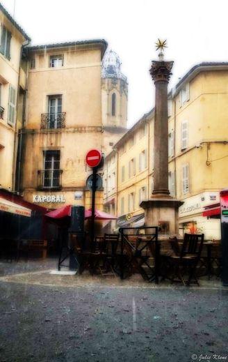 rainstorm, Aix-en-Provence, France