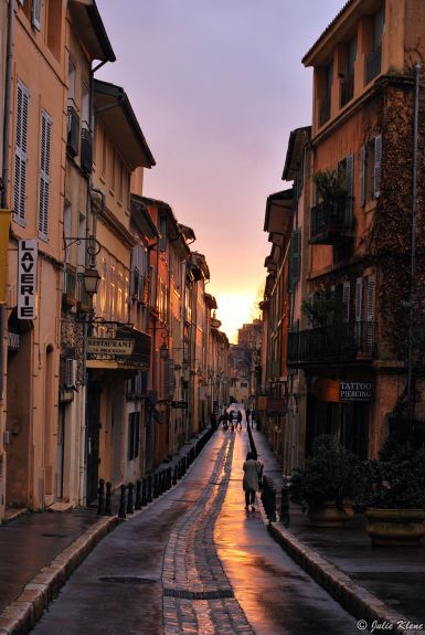 Sunset in Aix-en-Provence, France
