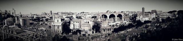 Over the Roman forum, Roma, Italy