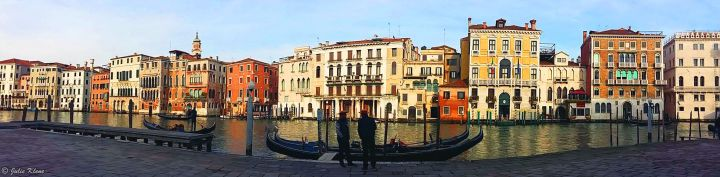Over Venice, Italy