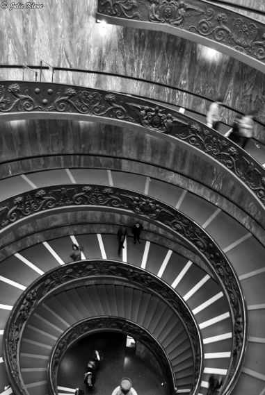 Vatican stairs, Rome, Italy